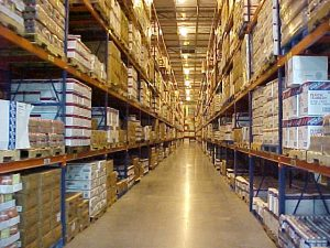 The width of aisles are an important factor in warehouse efficiency.