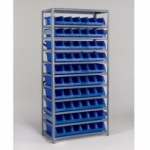 AKRO-MILS Shelving with System Bins