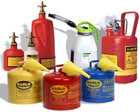 Bahrns offers a complete line of safety cans and caddies