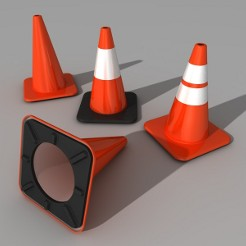 Traffic cones are available in different colors and styles.