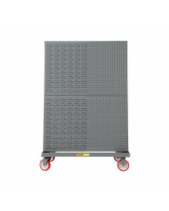 Little Giant Mobile A-Frame – Lean Tool Cart With Combo Pegboard & Louvered on Both Sides AFCP24365PY