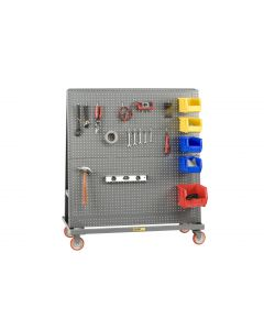 Little Giant Mobile A-Frame – Lean Tool Cart With 2 Sided Pegboard AFPB24365PY