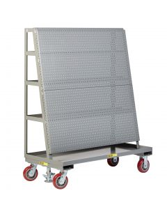 Little Giant Mobile Pegboard with Back Shelf Storage AFPBS24366PYFL