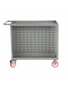 Little Giant Bin Cart with Pegboard Tool Storage BC2436TLPB