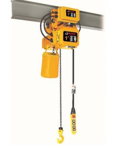 BISON 3-PHASE ELECTRIC CHAIN HOIST WITH MOTORIZED TROLLEY