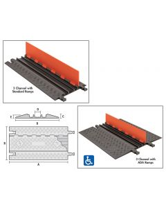 LOW PROFILE CABLE PROTECTORS - ANTI-SLIP RUBBER PAD KIT