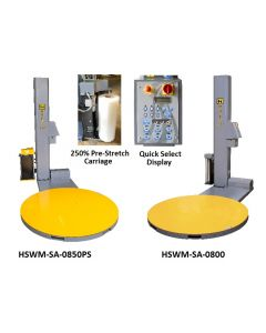 MID LEVEL LOW-PROFILE SEMI-AUTOMATIC STRETCH WRAP MACHINES