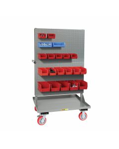 Little Giant Double Sided Pegboard Panel Cart IPB6PYFL