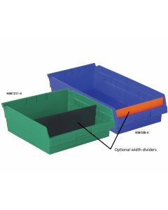 WIDTH DIVIDERS FOR SHELF BINS