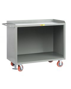 Little Giant Heavy-Duty Mobile Bench Cabinets Without Center Shelf and Available in Powder Coated Steel MB2448FL