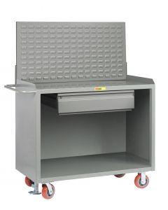 Little Giant Mobile Bench Cabinets With Heavy-Duty Drawer and Available in Powder Coated Steel and No Doors MB2448HDFL