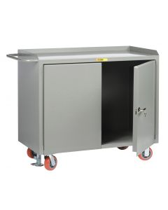 Little Giant Mobile Bench Cabinets With Locking Doors without Center Shelf and vailable in Powder Coated Steel MB2D2448FL
