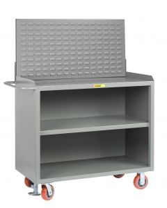 Little Giant Heavy-Duty Mobile Bench Cabinets With Center Shelf and Available in Powder Coated Steel MB32448FL