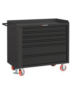 Little Giant Mobile Tool Cabinet With 2 Shallow & 2 Deep Drawers and Available in Powder Coated Steel MBT36-4S2DFL