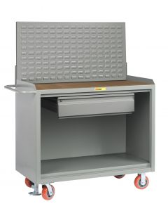 """Little Giant Mobile Bench Cabinets With Heavy-Duty Drawer and Available in 1/4"""" Hardboard and No Doors MH2448HDFL"""
