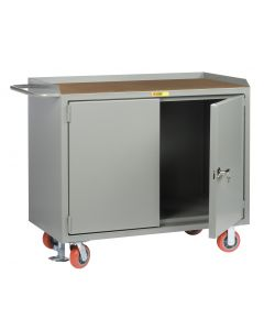 """Little Giant Mobile Bench Cabinets With Locking Doors without Center Shelf and Available in 1/4"""" Hardboard MH2D2448FL"""