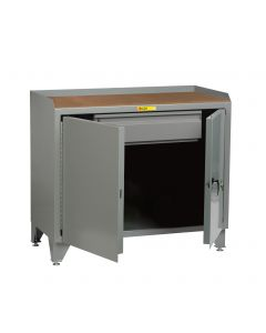 Little Giant Bench Cabinet with Heavy-Duty Storage Drawer and Solid Doors MHLL2D2448HD