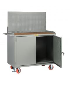 Little Giant Mobile Bench Cabinets with Pegboard or Louvered Panel Doors With Pegboard or Louvered Top Panel MHPBDFLPB