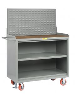"""Little Giant Heavy-Duty Mobile Bench Cabinets With Center Shelf and Available in 1/4"""" Hardboard MH32448FL"""