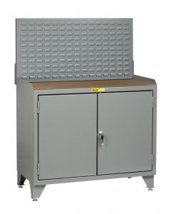 Little Giant Counter Height Bench Cabinets with Welded Center Shelf MH3LL2D2448