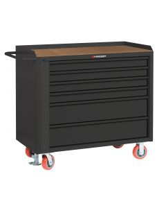 "Little Giant Mobile Tool Cabinet With 2 Shallow & 2 Deep Drawers and Available in 1/4"" Hardboard MHT36-4S2DFL"