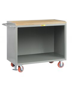 """Little Giant Heavy-Duty Mobile Bench Cabinets Without Center Shelf and Available in 1-3/4"""" Butcher Block MJ2448FL"""
