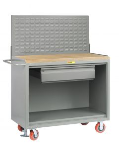 """Little Giant Mobile Bench Cabinets With Heavy-Duty Drawer and Available in 1-3/4"""" Butcher Block and No Doors MJ2448HDFL"""