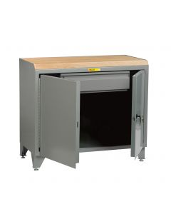 Little Giant Bench Cabinet with Heavy-Duty Storage Drawer and Solid Doors MJLL2D2448HD
