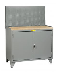 Little Giant Counter Height Bench Cabinets with Welded Center Shelf MJ3LL2D2448