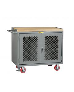 Little Giant Mobile Bench Cabinets without Center Shelf MJP2D2448FL