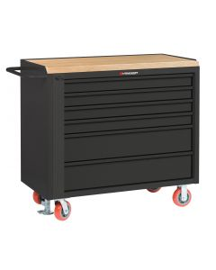 "Little Giant Mobile Tool Cabinet With 2 Shallow & 2 Deep Drawers and Available in 1-3/4"" Butcher Block MJT36-4S2DFL"