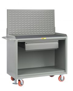 Little Giant Mobile Bench Cabinets With Heavy-Duty Drawer and Available in Non-Slip Vinyl and No Doors MM2448HDFL
