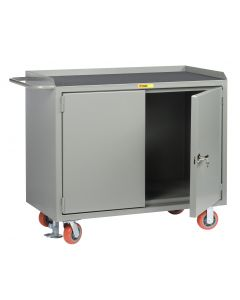 Little Giant Mobile Bench Cabinets With Locking Doors without Center Shelf and Available in Non-Slip Vinyl MM2D2448FL