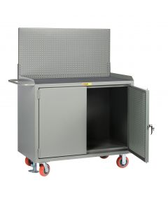 Little Giant Mobile Bench Cabinets with Pegboard or Louvered Panel Doors With Pegboard or Louvered Top Panel MMPBDFLPB
