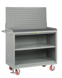 Little Giant Heavy-Duty Mobile Bench Cabinets With Center Shelf and Available in Non-Slip Vinyl MM32448FL