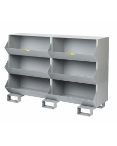 Little Giant Stationary Storage Bins with One storage capartment per level MS11532FP