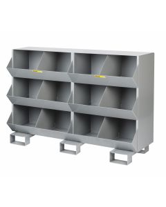 Little Giant Stationary Storage Bins with Two storage capartment per level MS21532FP