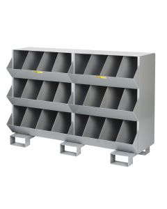 Little Giant Stationary Storage Bins with Four storage capartment per level MS41532FP