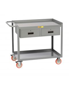 Little Giant Mobile Workstation with Two Storage Drawers MW24365TL2DR