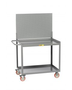 Little Giant Mobile Workstation With Pegboard or Louvered Panel and 2 Shelves MW24365TLPB