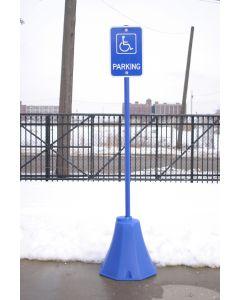 Vestil OCTAGON SIGN BASE BLUE 8 X 8 X 98