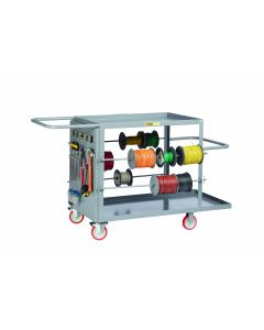 Little Giant Wire Reel Cart with Pegboard Panel RCPB24485TL