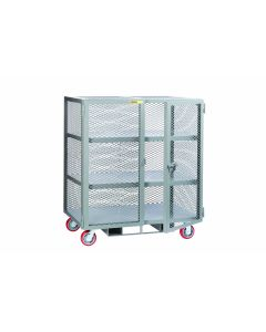 "Little Giant Forkliftable Mobile Storage Locker with 2 Center Shelves 14"" Clearance SC230486PYFP"