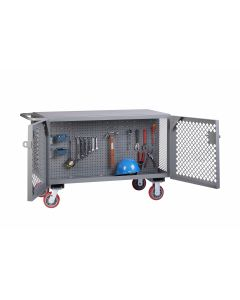 Little Giant 2-Sided Mobile Maintenance Cart with Pegboard Panels ST24486PYPB