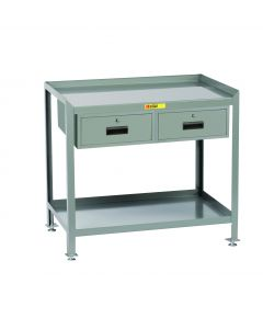 Little Giant Steel Workstation With Locking Storage Drawers SW2436LL2DR