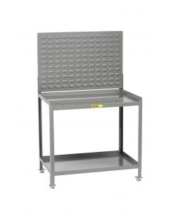 Little Giant Steel Workstation With Louvered Panel SW2436LLLP