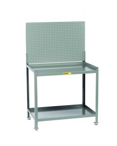 Little Giant Steel Workstation With Pegboard Panel SW2436LLPB