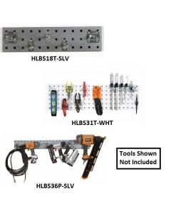LOCBOARD® STEEL PEGBOARD STRIP KITS