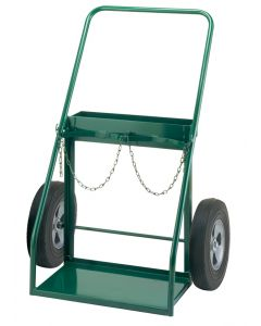"""Little Giant Dual Gas Cylinder Hand Truck with 10"""" x 2.75"""" Solid Rubber TW5010"""