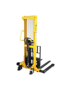 Manual Hydraulic Hand Pump Stackers With Adjustable Forks